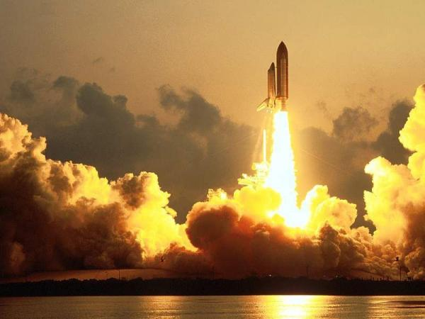 a shuttle launch