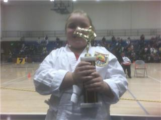 Granddaughter..First place in her first Karate tournament!
