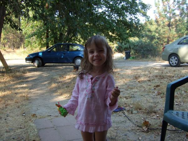 Mah daughter in the front yard.
