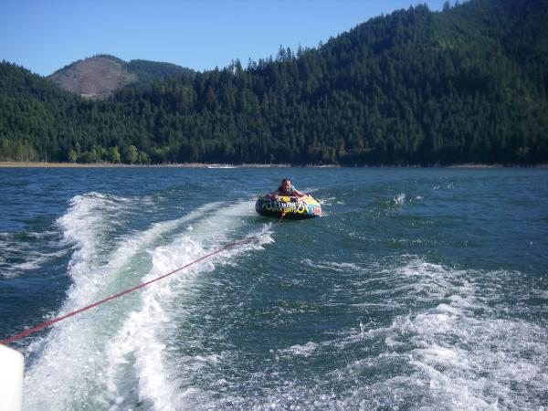 Myself tubing at Galesville Reservoir north of Glendale, OR.