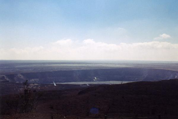 Overlook of Halemaumau Crater in the Kilauea Caldera.