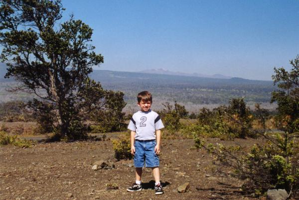 Kid Number 2 with Mauna Kea in the distance