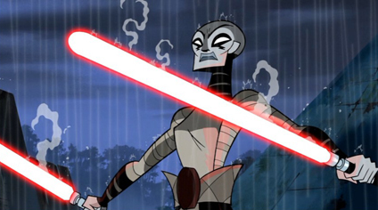 "Asajj Ventress from ""Clone Wars"" volume one"