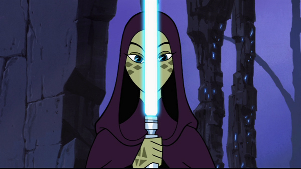 Padawan Barriss Offee and her newly crafted blue saber