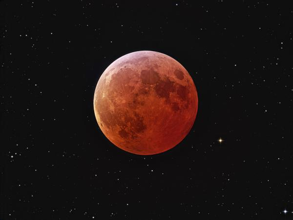 Eclipsed Moon and Stars