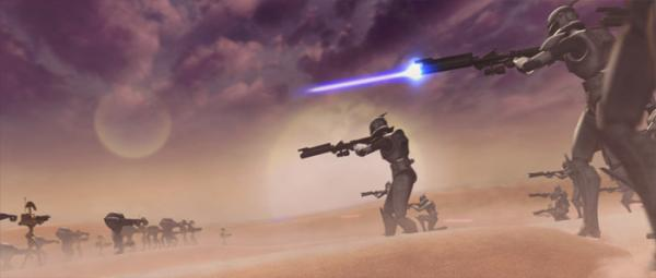 Clone Troopers -- Screenie from Star Wars: The Clone Wars, the upcoming movie/series