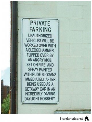 pictures parking sign