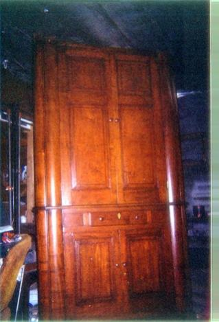 """EA Corner Cupboard (sans crown molding) how it looked when new and/or maintained. IMHO proper restoration ie: unconcerned w/ """"collectors monetary value"""" completely concerned with tradition and original vision"""
