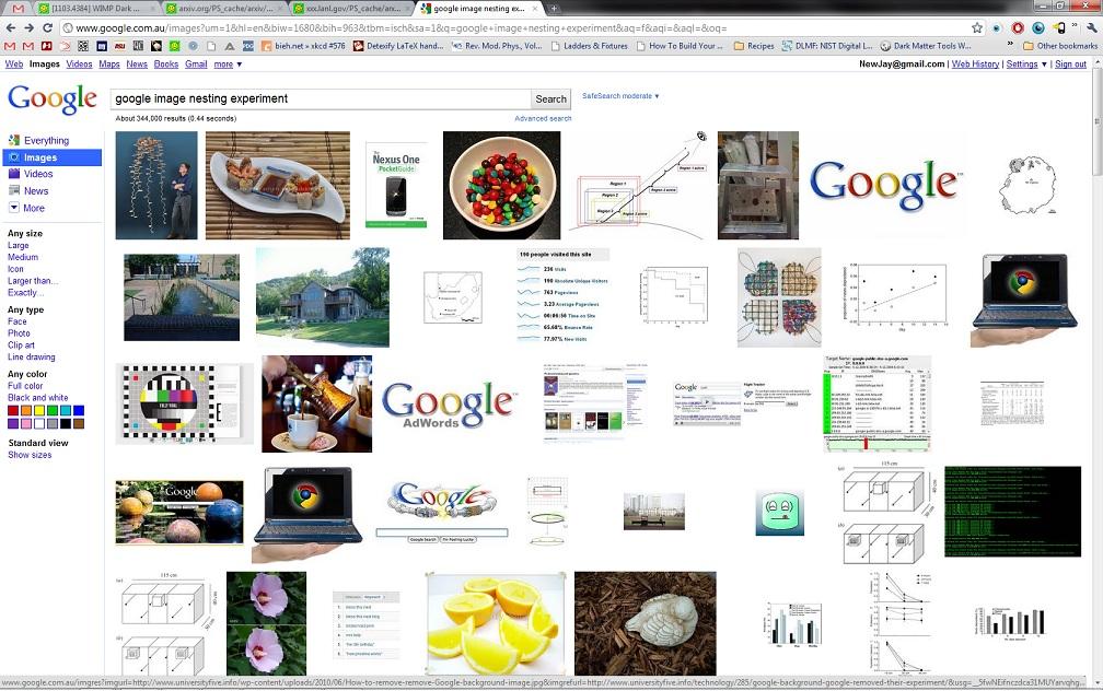 google image nesting experiment