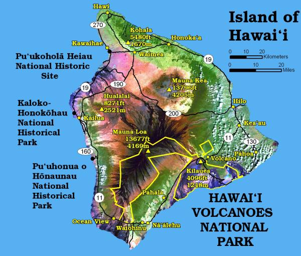 Map of Hawaii