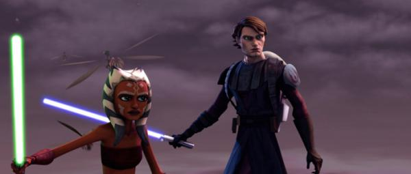 Anakin and Shaak Ti -- Screenie from Star Wars: The Clone Wars, the upcoming movie/series