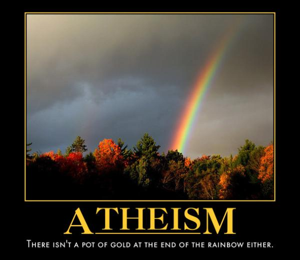 Atheism motivation poster.