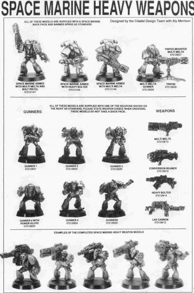 Space Marine Heavy Weapons